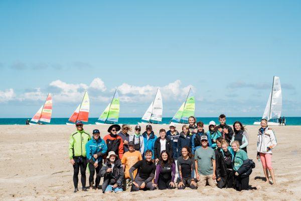 Hobie Fleet group photo on reef